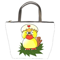 Coming Bird Bucket Handbag