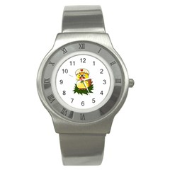 Coming Bird Stainless Steel Watch (round)