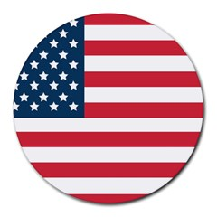 Flag 8  Mouse Pad (round)