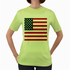 Flag Green Womens  T-shirt