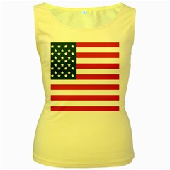 Flag Yellow Womens  Tank Top