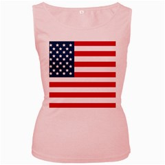 Flag Pink Womens  Tank Top
