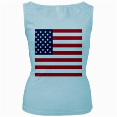 Flag Baby Blue Womens  Tank Top