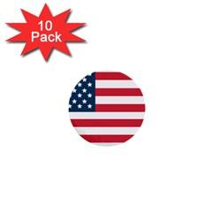 Flag 10 Pack Mini Button (Round)