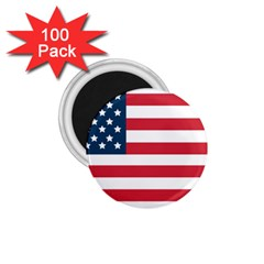 Flag 100 Pack Small Magnet (Round)