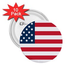 Flag 10 Pack Regular Button (Round)