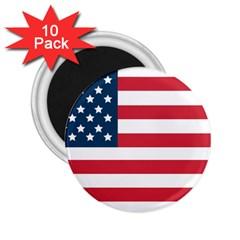 Flag 10 Pack Regular Magnet (Round)