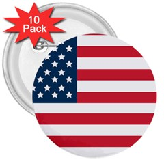 Flag 10 Pack Large Button (Round)