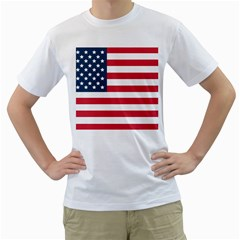 Flag White Mens  T-shirt