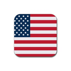 Flag Rubber Drinks Coaster (square)