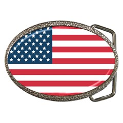 Flag Belt Buckle (oval)