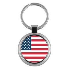 Flag Key Chain (round)