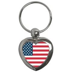 Flag Key Chain (Heart)