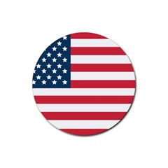 Flag 4 Pack Rubber Drinks Coaster (Round)