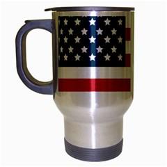 Flag Brushed Chrome Travel Mug