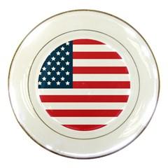 Flag Porcelain Display Plate