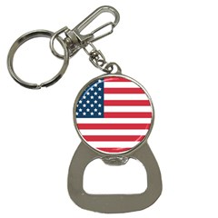 Flag Key Chain With Bottle Opener