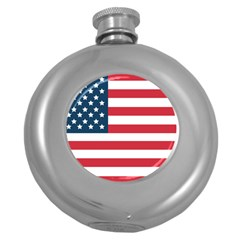 Flag Hip Flask (Round)