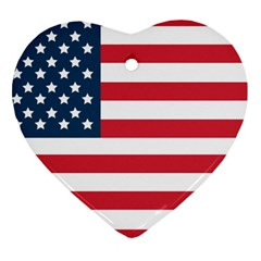 Flag Heart Ornament (Two Sides)
