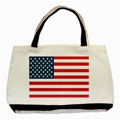 Flag Twin-sided Black Tote Bag