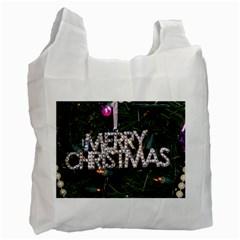 Merry Christmas  Single-sided Reusable Shopping Bag