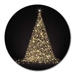 Christmas Tree Sparkle Jpg 8  Mouse Pad (Round)