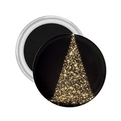 Christmas Tree Sparkle Jpg Regular Magnet (Round)