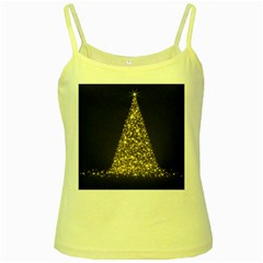 Christmas Tree Sparkle Jpg Yellow Spaghetti Top