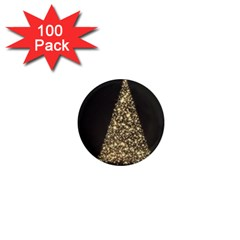 Christmas Tree Sparkle Jpg 100 Pack Mini Magnet (round)