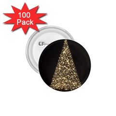 Christmas Tree Sparkle Jpg 100 Pack Small Button (round)