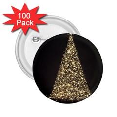 Christmas Tree Sparkle Jpg 100 Pack Regular Button (Round)