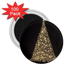 Christmas Tree Sparkle Jpg 100 Pack Regular Magnet (round)