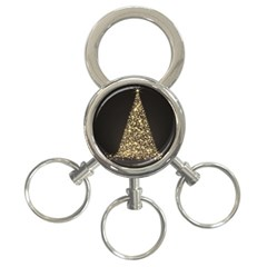 Christmas Tree Sparkle Jpg 3 Ring Key Chain
