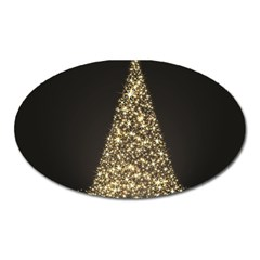 Christmas Tree Sparkle Jpg Large Sticker Magnet (oval)