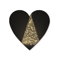 Christmas Tree Sparkle Jpg Large Sticker Magnet (Heart)