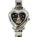 Christmas Tree Sparkle Jpg Classic Elegant Ladies Watch (Heart) Front