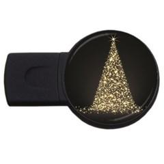 Christmas Tree Sparkle Jpg 4Gb USB Flash Drive (Round)