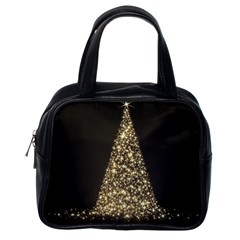 Christmas Tree Sparkle Jpg Single-sided Satchel Handbag