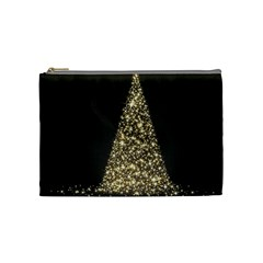 Christmas Tree Sparkle Jpg Medium Makeup Purse
