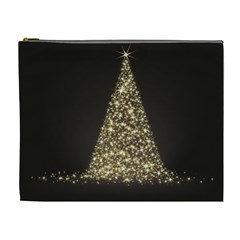 Christmas Tree Sparkle Jpg Extra Large Makeup Purse