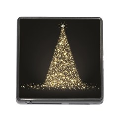 Christmas Tree Sparkle Jpg Card Reader with Storage (Square)