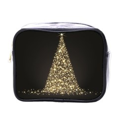 Christmas Tree Sparkle Jpg Single-sided Cosmetic Case