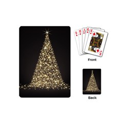 Christmas Tree Sparkle Jpg Playing Cards (Mini)