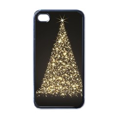 Christmas Tree Sparkle Jpg Black Apple iPhone 4 Case