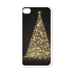 Christmas Tree Sparkle Jpg White Apple iPhone 4 Case