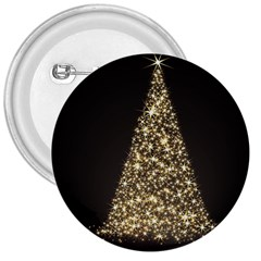 Christmas Tree Sparkle Jpg Large Button (Round)