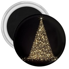 Christmas Tree Sparkle Jpg Large Magnet (round)
