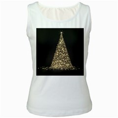 Christmas Tree Sparkle Jpg White Womens  Tank Top