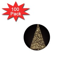 Christmas Tree Sparkle Jpg 100 Pack Mini Button (Round)