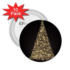 Christmas Tree Sparkle Jpg 10 Pack Regular Button (Round)
